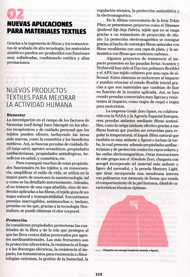 Section of the article on Textile Innovation