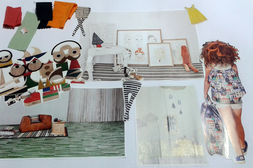 Master in fashion for kids: Kids Home textiles course. Moodboard by Carme.
