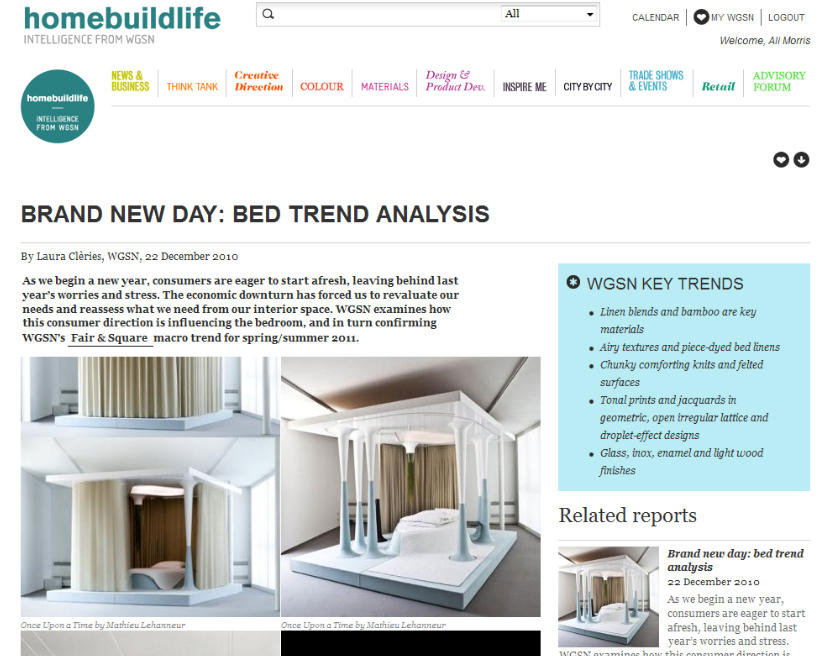 Home and home textiles trend report - Brand new day